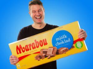 Gigantisk Chokolade Marabou Julegave